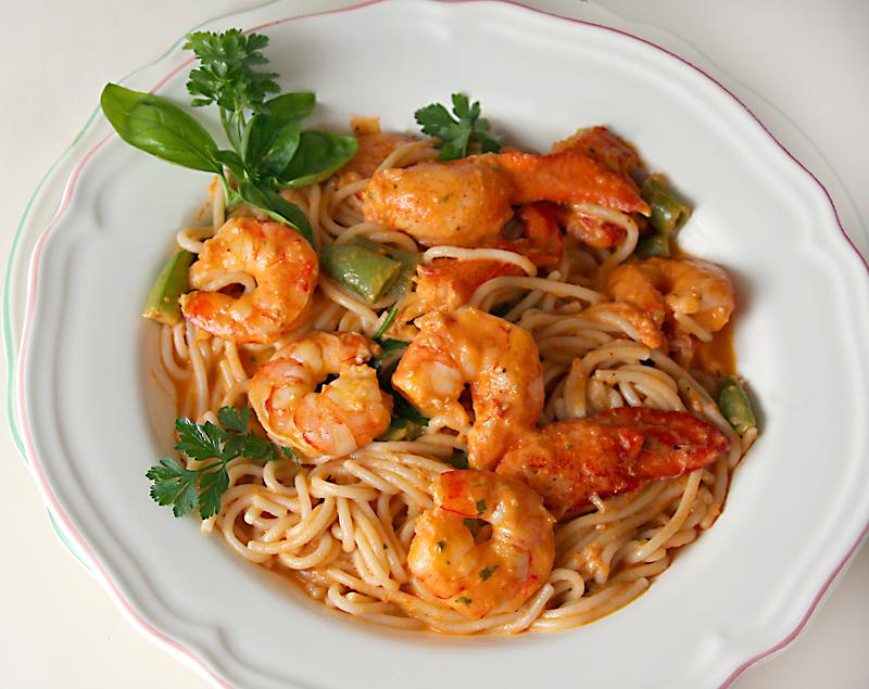 GF Shrimp and Lobster with Marinara sauce