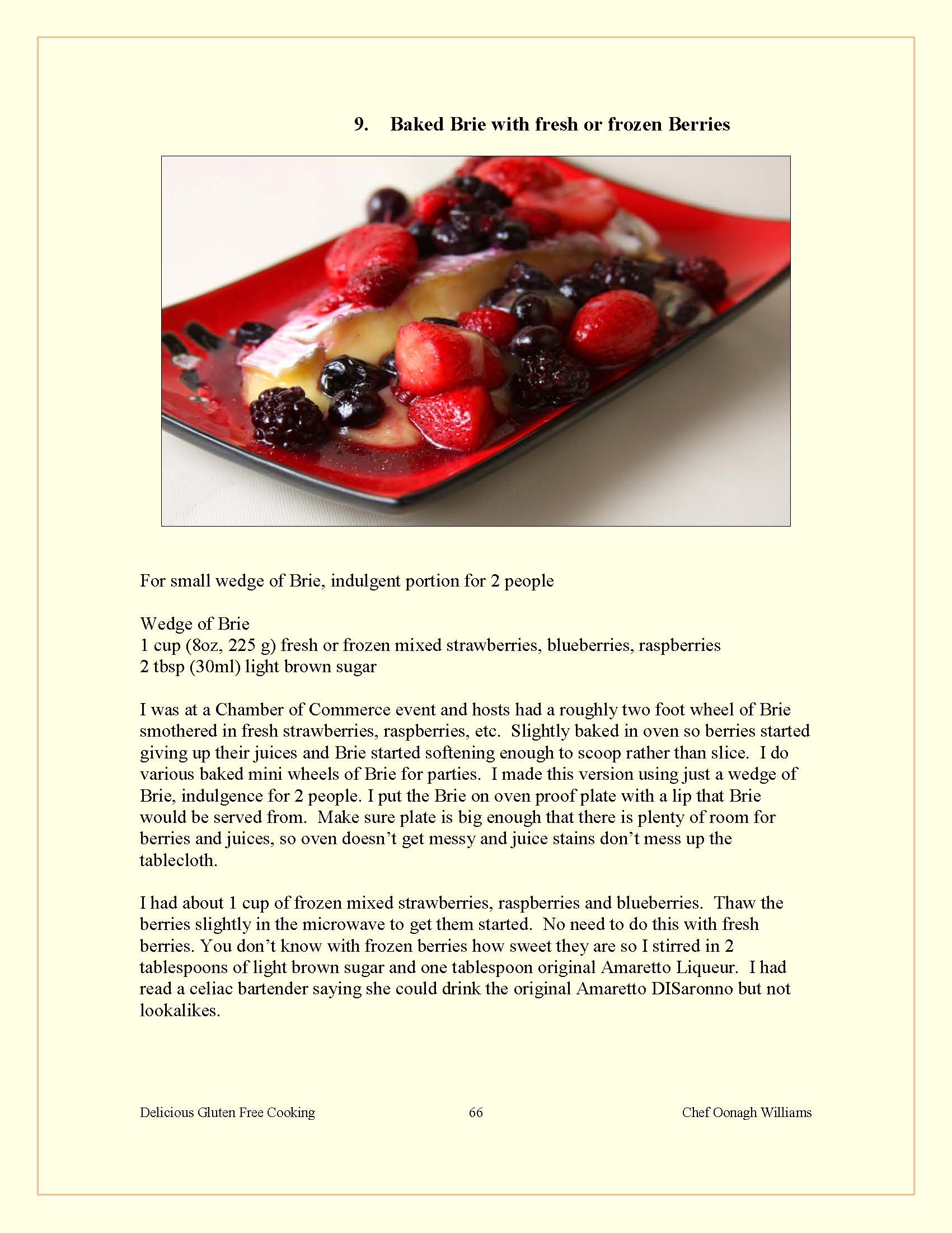 tv chef oonagh s 200 page gluten free ecookbook 70 recipes