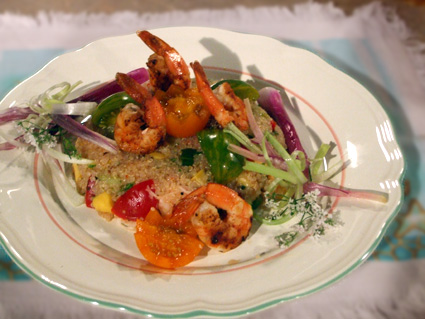 Click for a larger picture of Naturally Gluten Free Shrimp and Quinoa Salad